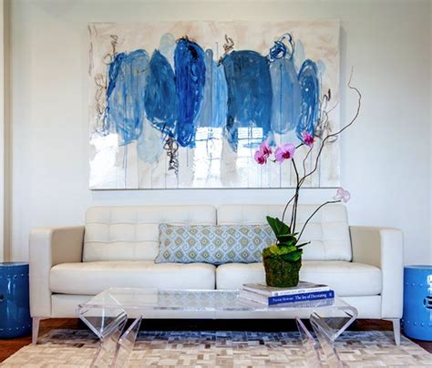 sofa paintings or one large art piece over sofa project middle