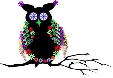 clipart photo abstract floral owl vector clipart image free stock