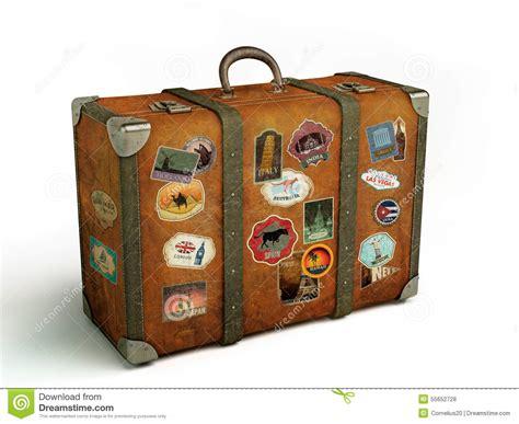 alter reisekoffer lokalisiert stock abbildung - Alter Reisekoffer