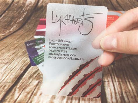 Visitenkarten Transparent by Transparente Visitenkarten Visitenkarten Und Plastikkarten