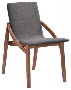 scandinavian chair modrest jett modern espresso fabric dining chair set of 2
