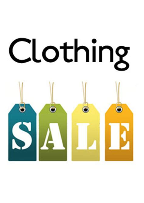 clothing sale in the basement students union