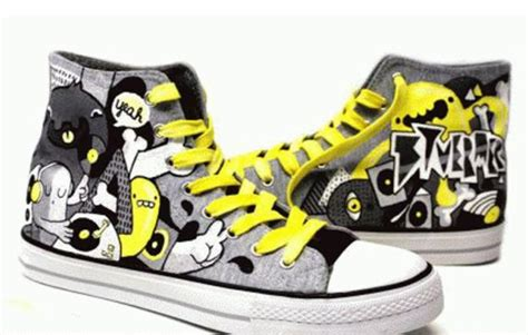 Sepatu Converse Lukis sepatu lukis dunia lukis laman 2