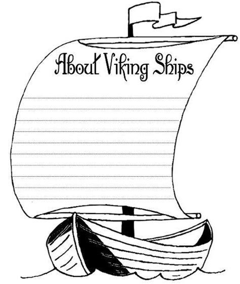 Viking Writing Template museum mania vikings on vikings viking ship