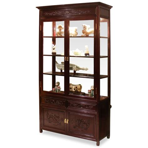 40in rosewood motif china cabinet cabinets