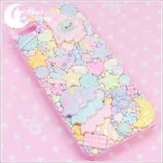 Pasta Pastel Iphone 5 5s glitter lambs diy decoden iphone supplies kawaii