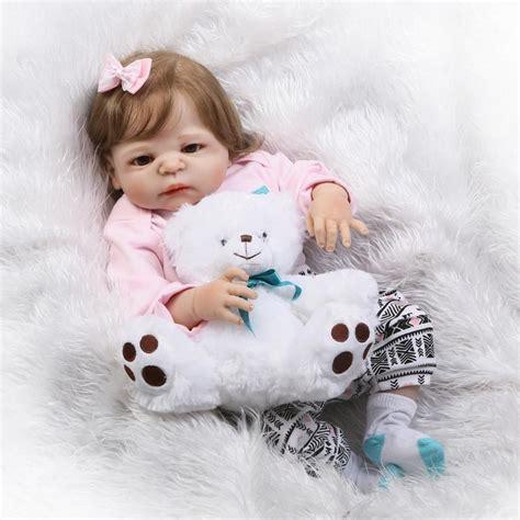 design reborn baby doll full silicone vinyl reborn baby girl 23 dolls so truly