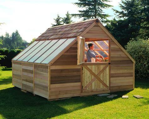 cedar greenhouse kit ft  ft sh