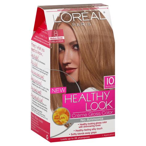 l oreal healthy look creme gloss hair color medium vanilla cr 232 me 8 new ebay l oreal healthy look hair dye creme gloss color medium 8 1 application hair