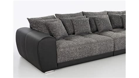 big couch media big sofa sam polsterm 246 bel xxl sofa in schwarz grau 310 cm