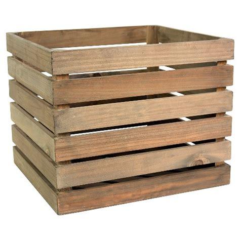 target crates wood large milk crate threshold target