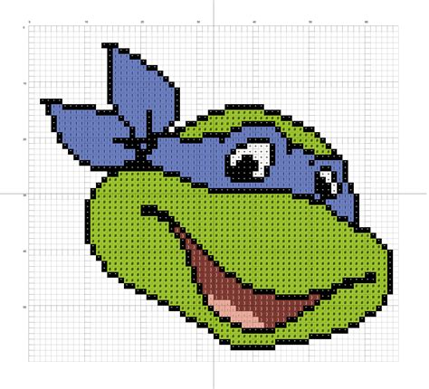 pattern for ninja turtle face leonardo tmnt clipart cliparthut free clipart