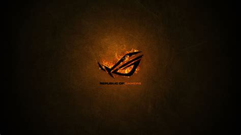 asus wallpaper orange asus rog full hd wallpaper picture image