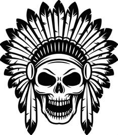 indian skull 1 native american warrior headdress feather