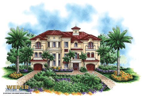 Mediterranean House Plan by Luxury Mediterranean House Plan Dal Mar House