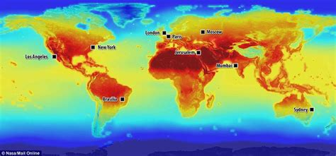 world cities temperature map nasa maps reveal how the world will need to adapt to