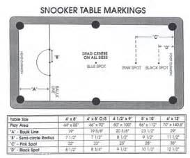 Pool Table 8ft Snooker Table Layout