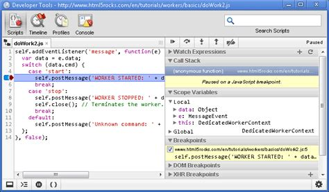 chrome developer tools chromium blog debugging web workers with chrome developer