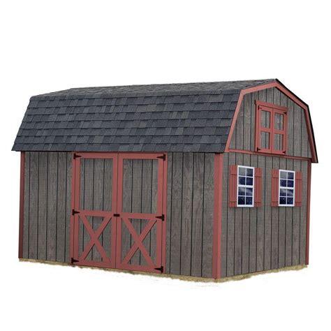 Best Sheds Best Barns Meadowbrook 16x10 Wood Shed Meadowbrook1016