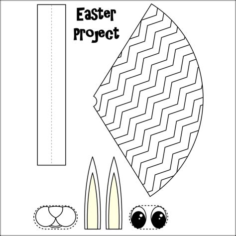 easy easter bonnet template mieke rozing pasen