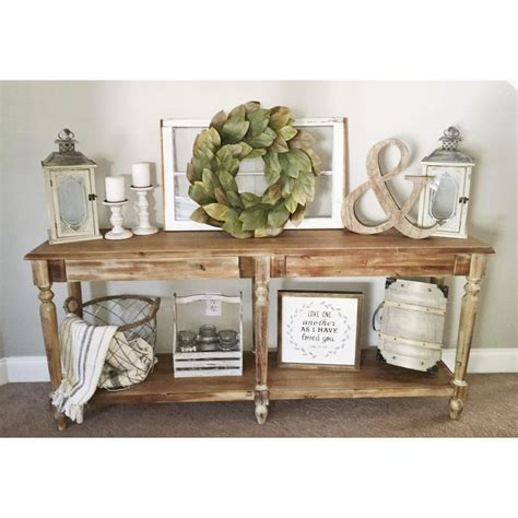 sofa table ideas decor best 25 entry table decorations ideas on