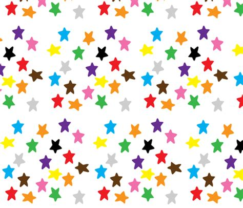 Amazon Home Decor by Coloured Stars Fabric Greennote Spoonflower
