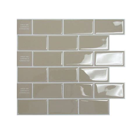 adhesive tile backsplash smart tiles 9 62 in x 9 33 in adhesive decorative tile