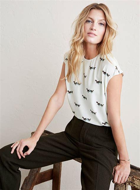 garde robe minimaliste femme la blouse manches cape imprim 233 e contemporaine