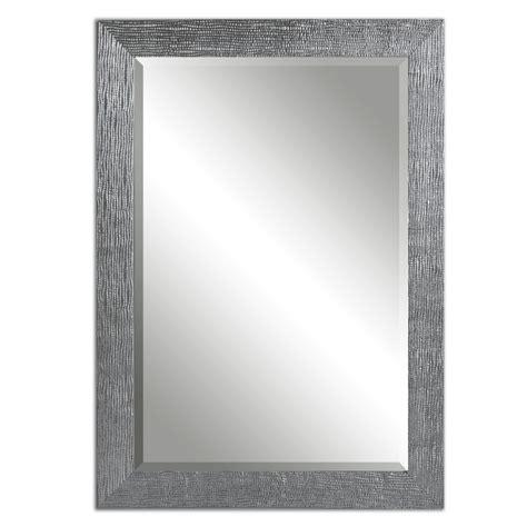 tark silver with a light gray glaze rectangular mirror