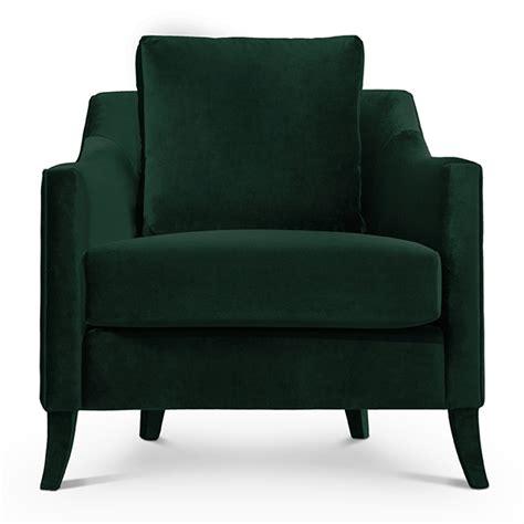 Green Velvet Armchair by Como Designer Green Velvet Armchair Robson Furniture