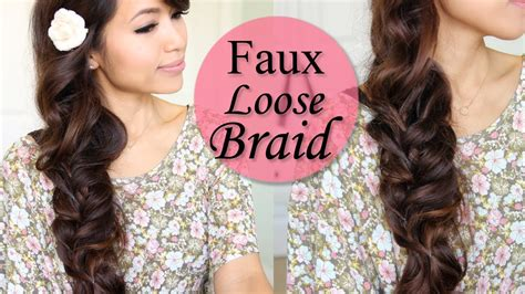 spring curlyhaired tutorial how to faux loose braid curly hairstyle for long hair