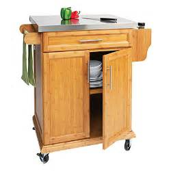 small bamboo stainless steel top kitchen cart big lots