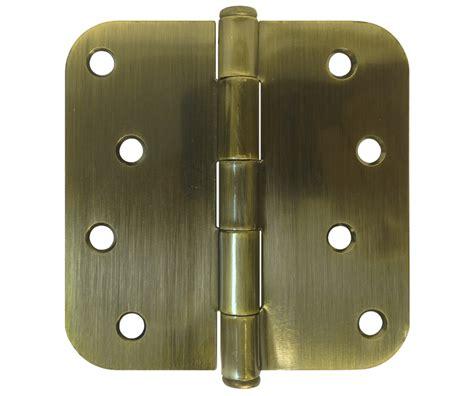 Brass Door Hinges 4 quot antique brass door hinges 5 8 quot radius