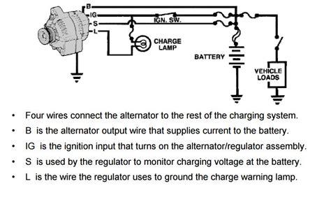 wiring diagram for alternator light the wiring diagram