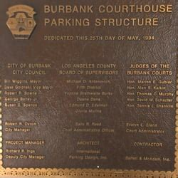 burbank court house burbank courthouse parking structure parking 327 e angelino ave burbank ca