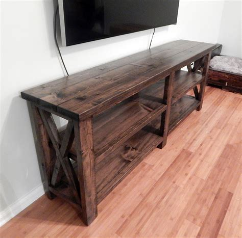 rustic x console table johnson rustic x console table