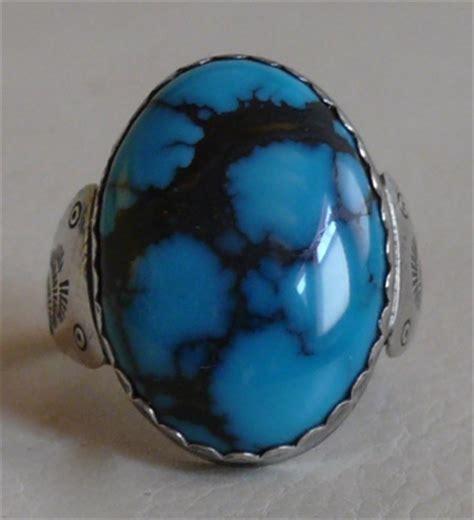 Split Ring One Way Power Ring Sr 11 rogert skeet jr navajo silver and candelaria spiderweb turquoise ring