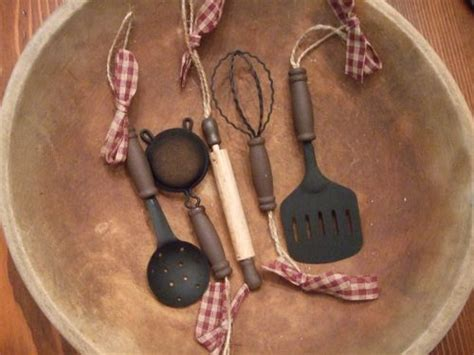 primitive country farm house kitchen utensil christmas