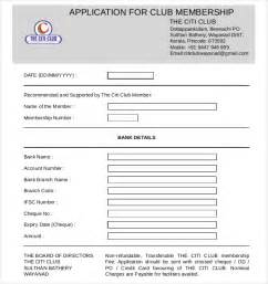 15 club application templates free sample example