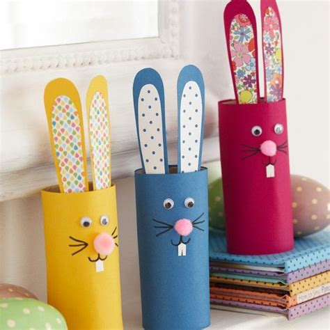 Easter Craft Ideas With Toilet Paper Rolls - how to make these easter bunnies easter crafts