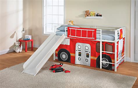 loft bed curtain set fire truck curtain set twin bunk loft bed kids bedroom boys room play fort tent ebay