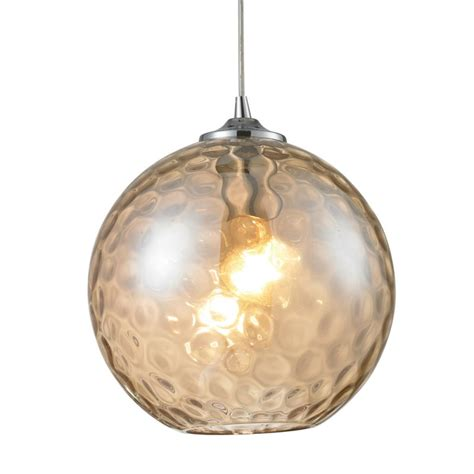 Mini Pendant Light Glass Shades Elk Lighting 31380 1cmp Polished Chrome Watersphere Single Light Mini Pendant With Chagne