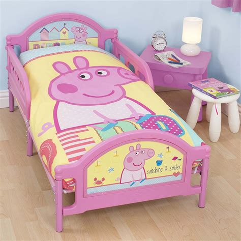 peppa pig toddler bedding peppa pig seaside junior toddler bed with mattress new ebay