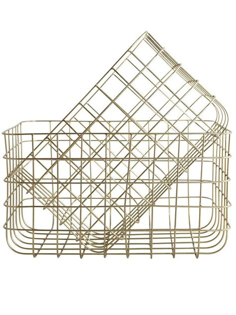 gold wire basket gold wire baskets large papermash home details set of copper and desks