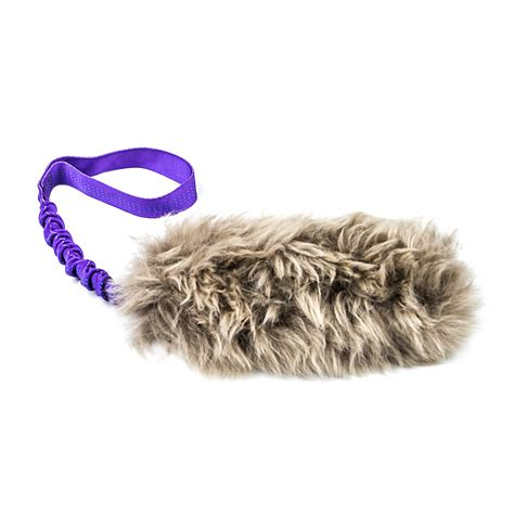 are for dogs bungee fur tug with sheepskin designs