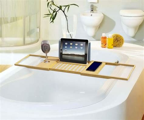 bamboo bathtub caddy luxury bamboo bathtub caddy guys like us