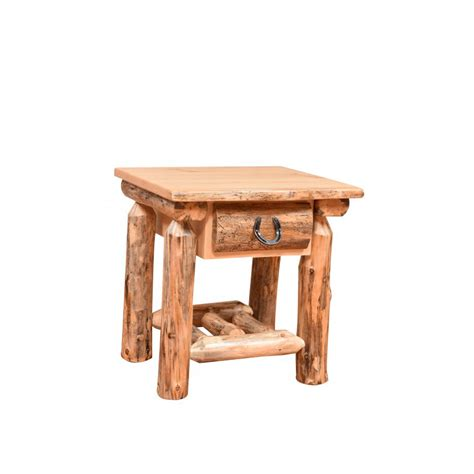 Rustic Nightstand Amish Crafted Furniture - knotty pine one drawer nightstand amish crafted furniture