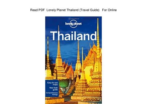 Lonely Planet Bangkok Travel Guide Ebook thailand travel guide pdf lifehacked1st