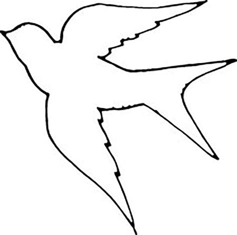 cutout template bird cut out template coloring home