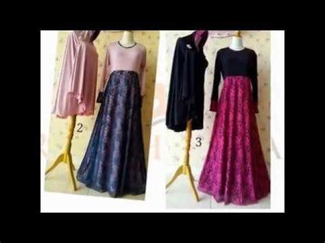 Gamis Dress Tuneeca Statistic T 0217078 gaun dress gamis kombinasi brokat cantik terbaru